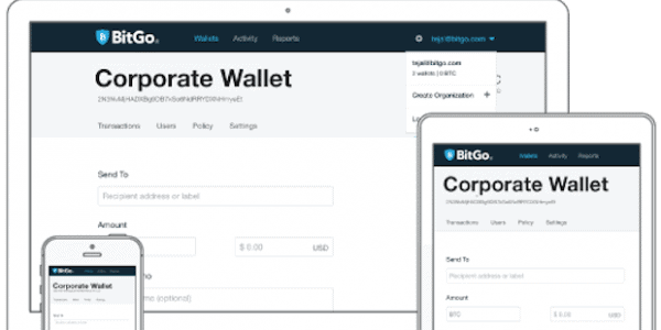 Abbildung BitGo Wallet