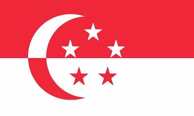 Neue Flagge von Singapur - Singapore Flag