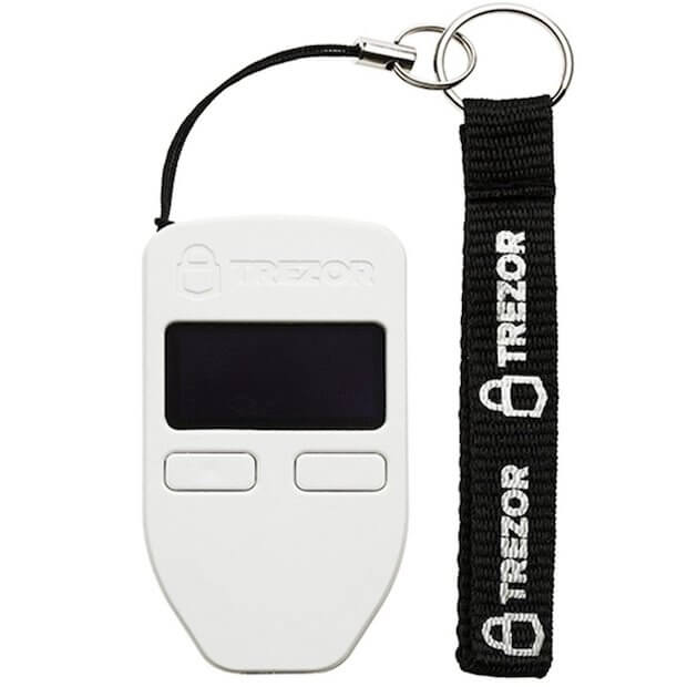 Trezor Hardware Wallet in weiss