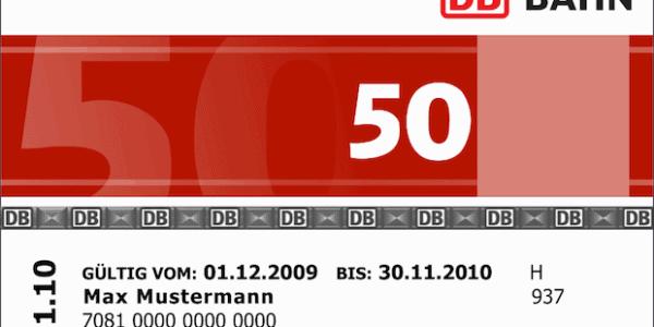 Bahncard - Kundenbindungsprogramm der DB
