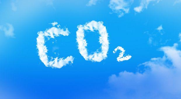 CO2 Schriftzug