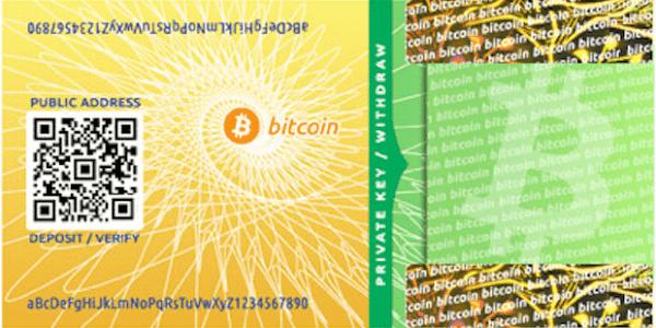 Bitcoin Paper Wallet Abbildung