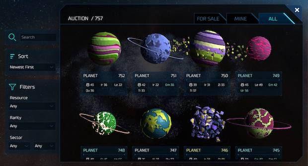 0xUniverse Screenshot
