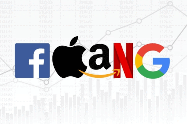 FAANG Unternehmen - Facebook, Apple, Amazon, Netflix und Google