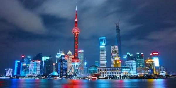 Skyline von Shanghai (China)