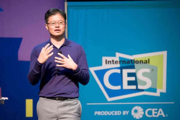 Jerry Yang (Yahoo) auf der CES