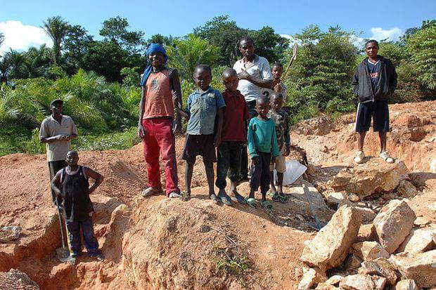 Kobaltförderung im Kongo