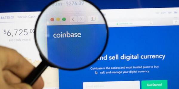Coinbase Logo Monitor