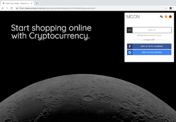 Moon Browsererweiterung