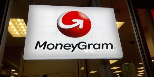 MoneyGram Logo in einer Filiale