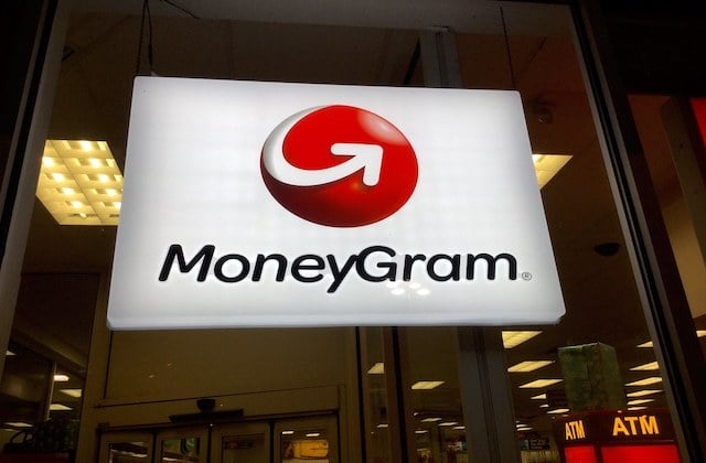 MoneyGram Logo in einer Filiale