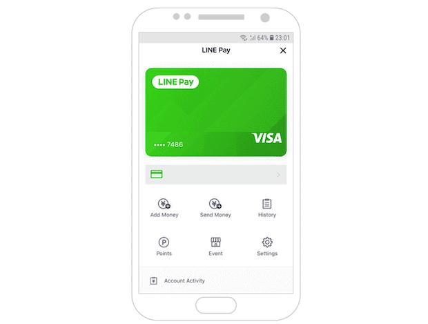 LINE Pay und Visa