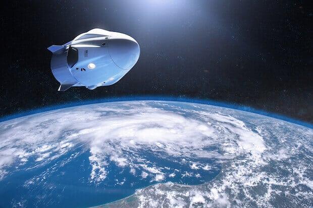 Raumfahrtbranche- SpaceX Frachtraumschiff