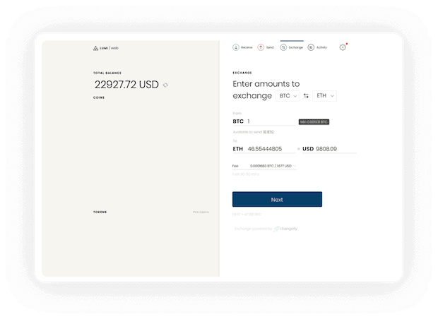 Lumi Wallet - Webwallet