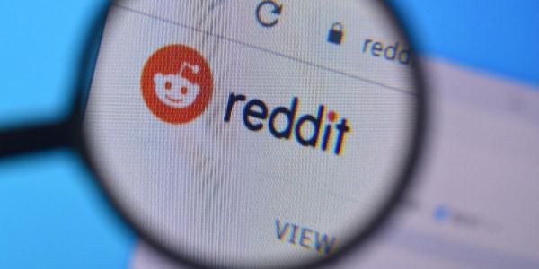 Reddit Logo unter Lupe