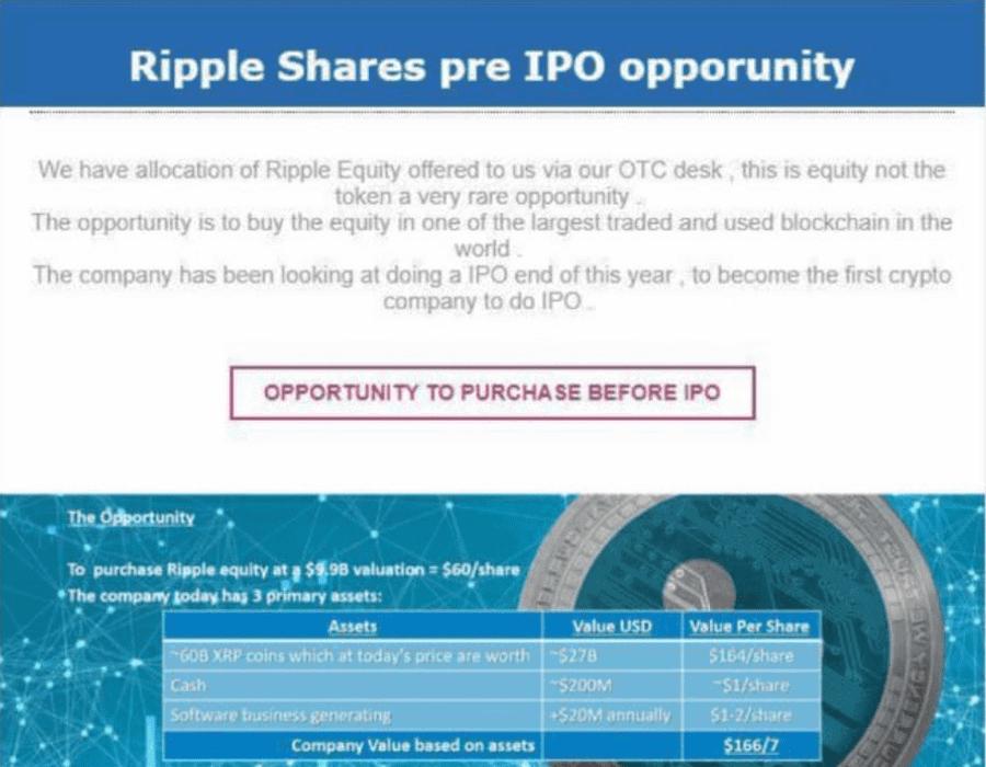 Insider-Information zum Ripple IPO