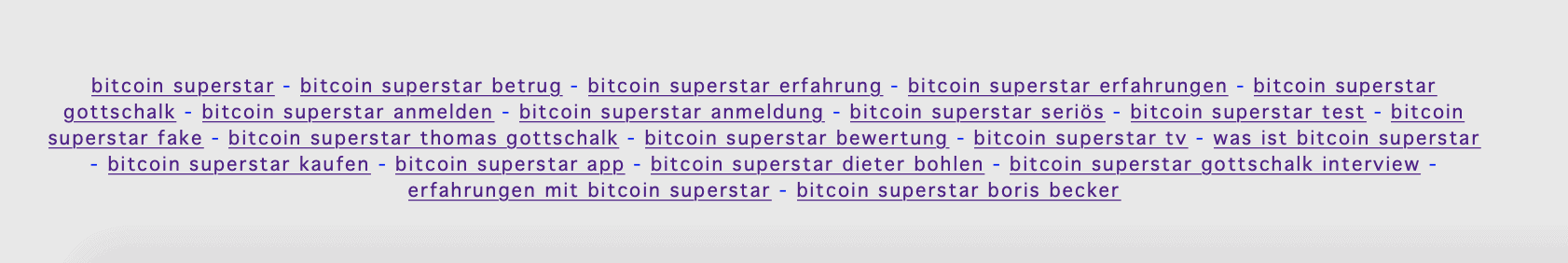 Keywords Bitcoin Superstar