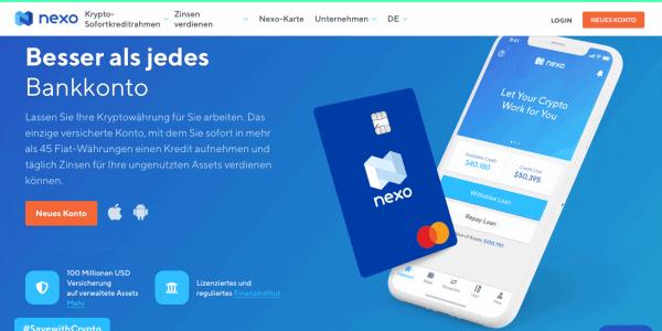 Nexo Sofortkredite Startseite