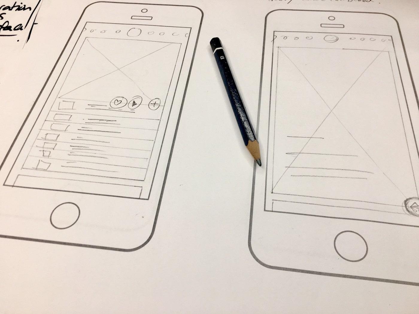Konzept für mobile App