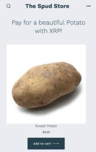 Payburner Kartoffeln gegen XRP