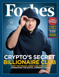 Changpeng Zhao (CZ), CEO at Binance, Forbes Magazin