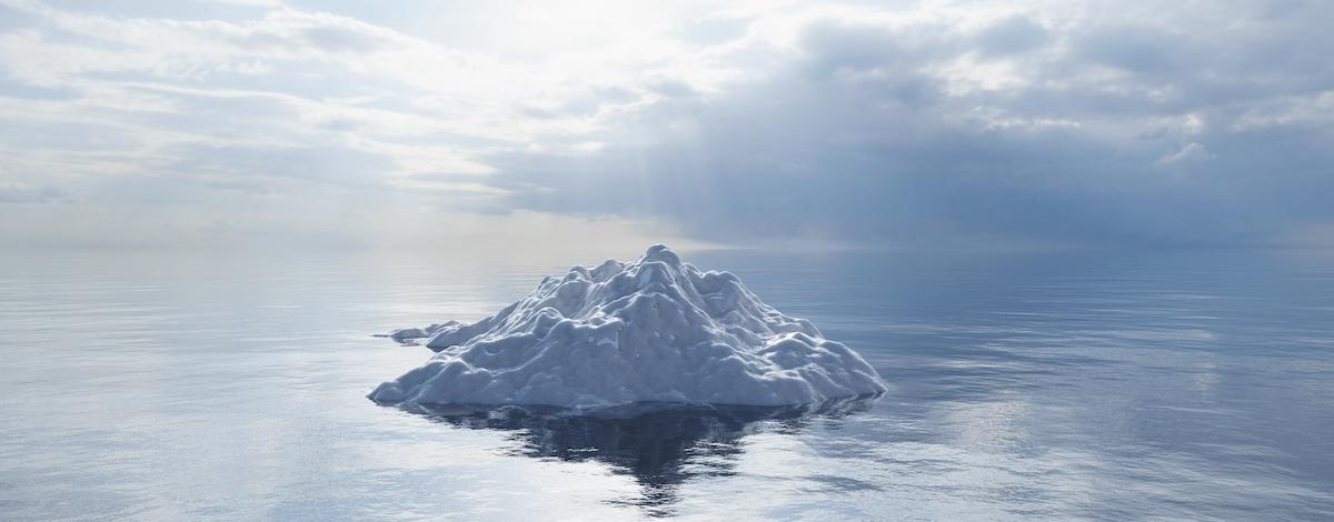 Spitze des Eisbergs