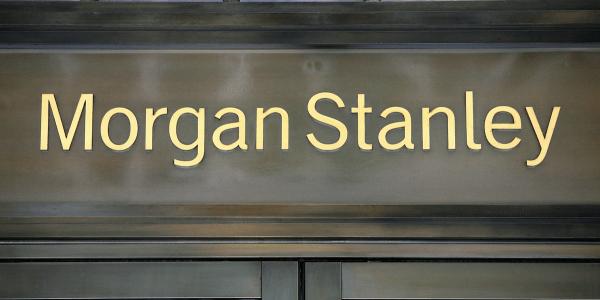 Morgan Stanley Logo über Filiale