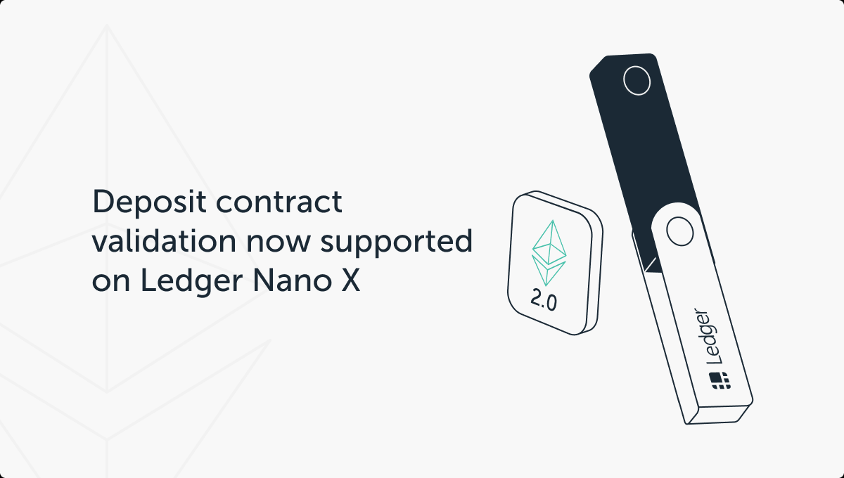 Ledger Nano X - Ethereum 2.0 Support
