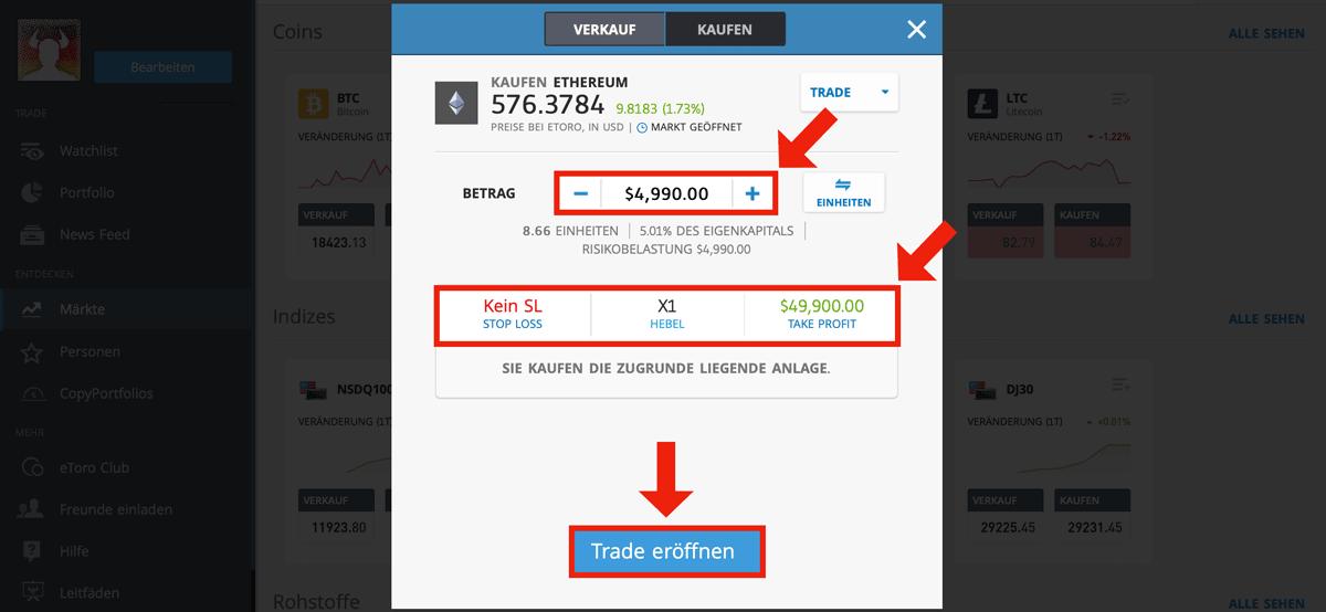 Wie kaufe ich Crypto-Munzbestand