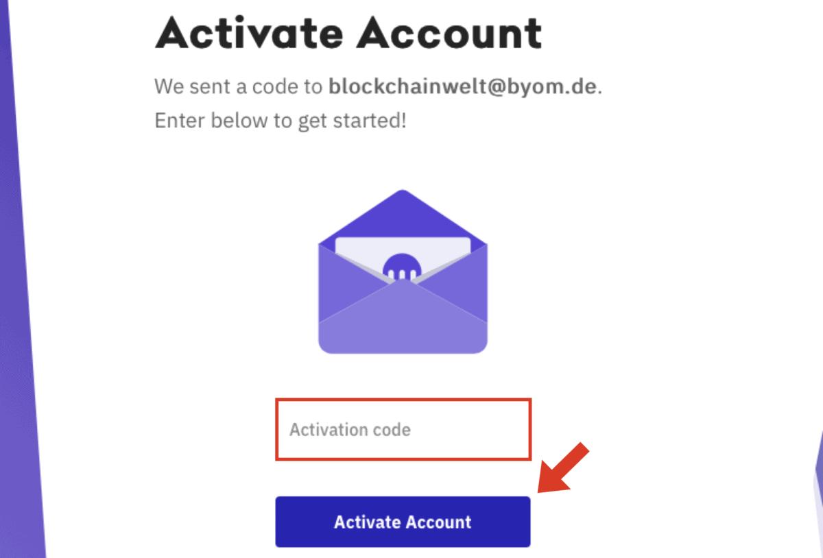 Kraken E-Mail-Bestätigung