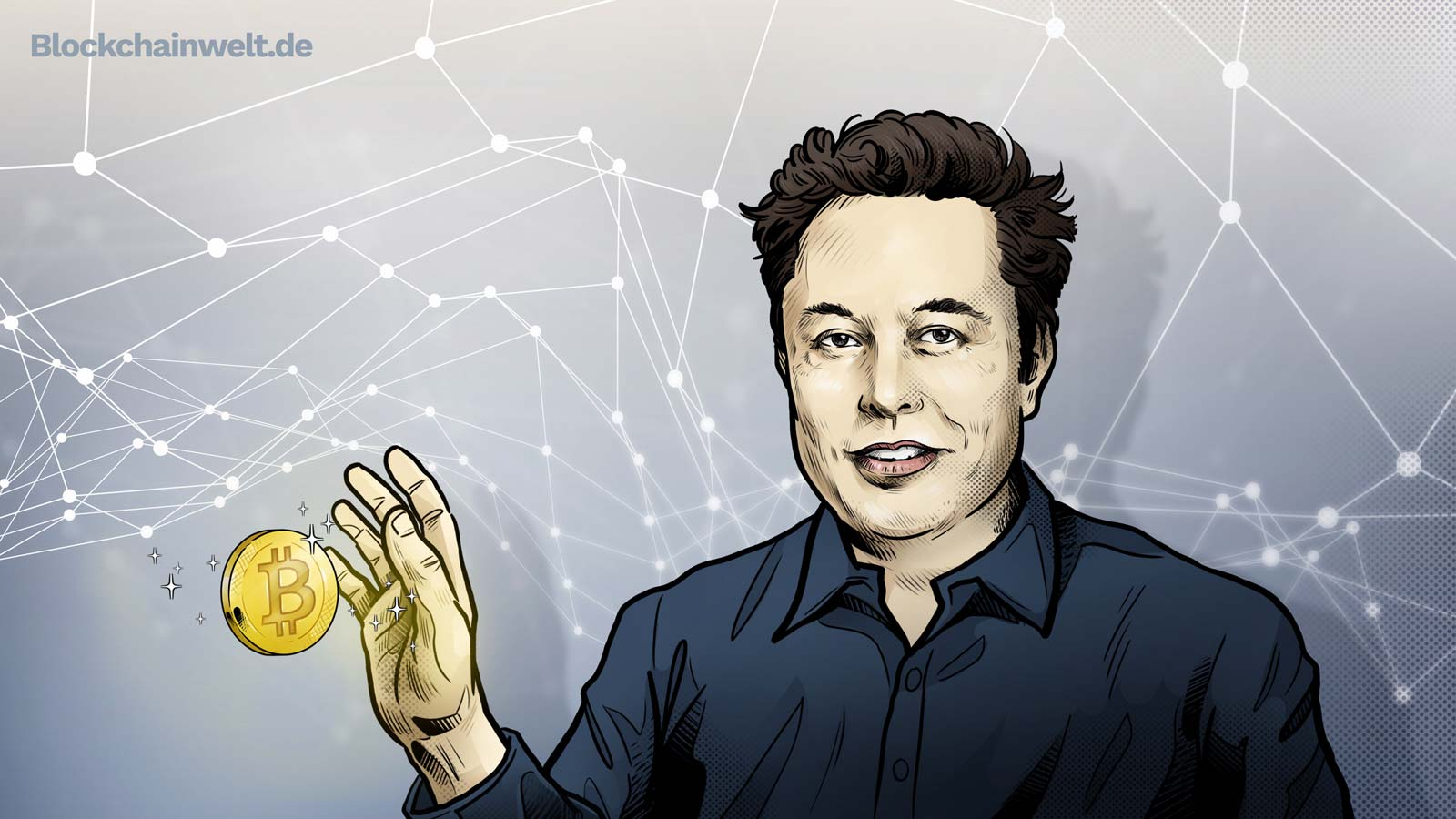 Elon Musk Bitcoin Illustration