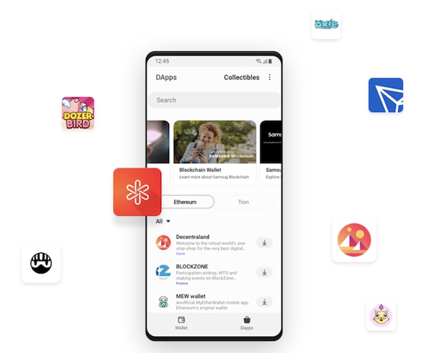 Samsung Blockchain Wallet dApps
