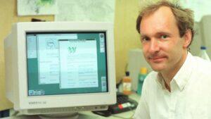 Tim Berners-Lee im CERN 1994