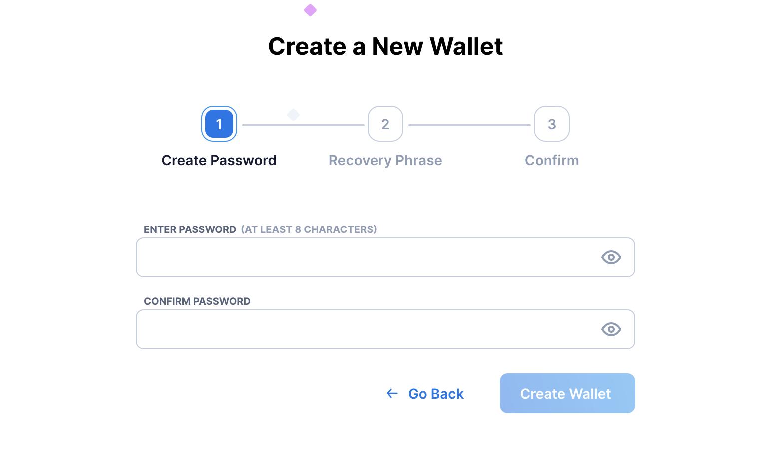 Das Passwort erstellen